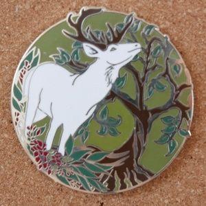 White Stag Enamel Pin